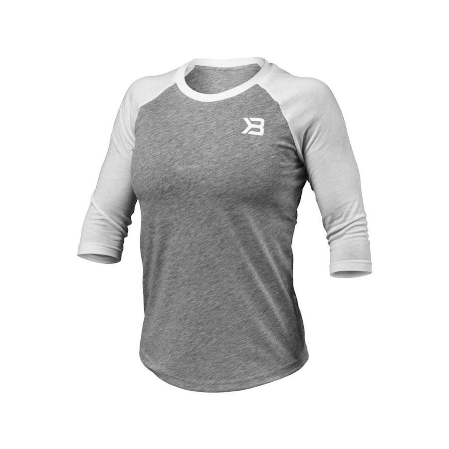 Image of   Better Bodies Womens Baseball Tee Grey Melange