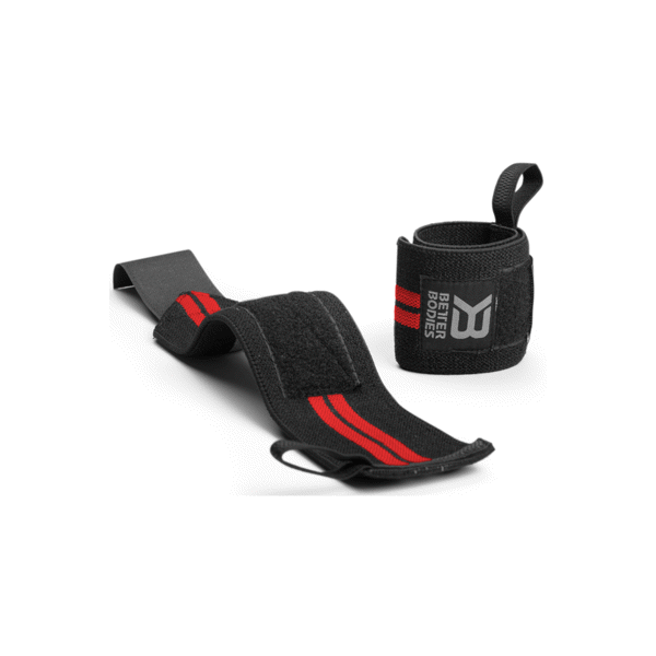 Image of   Better Bodies Elastic Wrist Wraps Black/Red
