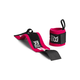 Better Bodies Womens Wrist Wraps Hot Pink/White
