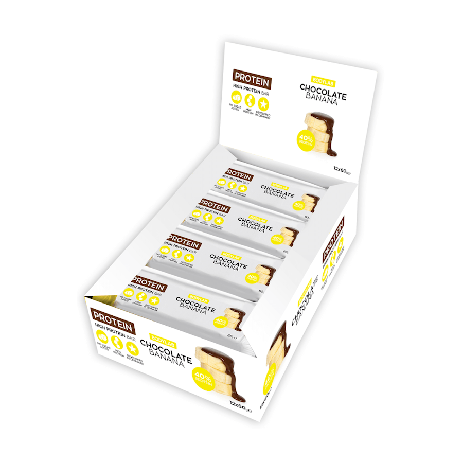 Image of   Bodylab Protein Bar Chocolate Banana 12x60g