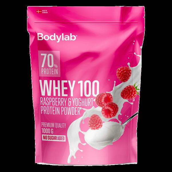 Billede af BodylabWhey 100 Proteinpulver Raspberry and Yoghurt 1kg