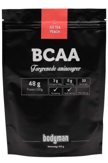 Billede af Bodyman BCAA Ice Tea Peach 240g