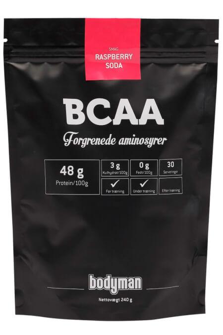 Billede af Bodyman BCAA Raspberry Soda 240g