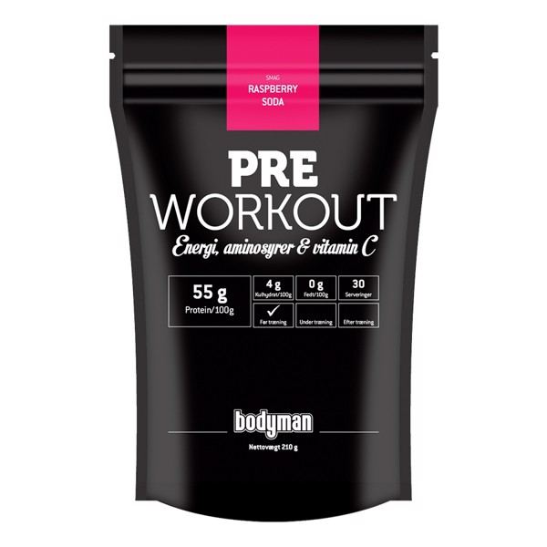 Bodyman Pre Workout Raspberry Soda 210g