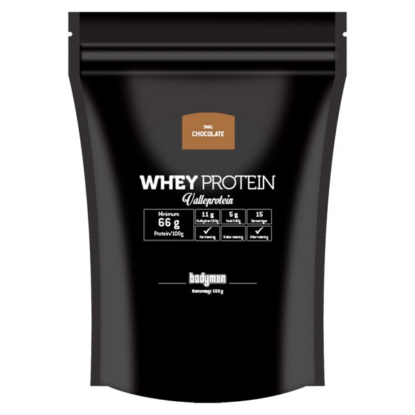 Billede af Bodyman Whey Proteinpulver Chocolate 500g