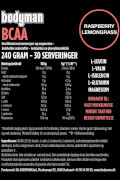 Bodyman BCAA raspberry lemongrass 240 Gram