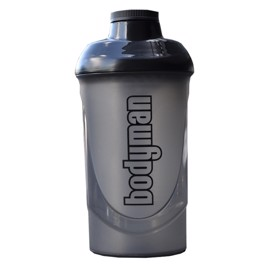 Bodyman Shaker Black/Smoke 600ml