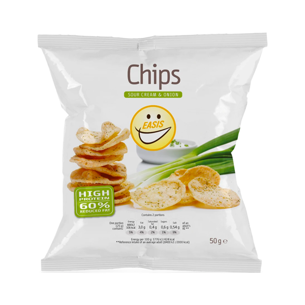 EASIS Chips Sour Cream and Onion 50g
