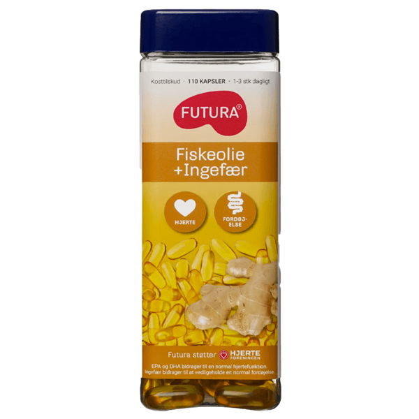 Køb Futura Fiskeolie Ingefær, 110 stk.