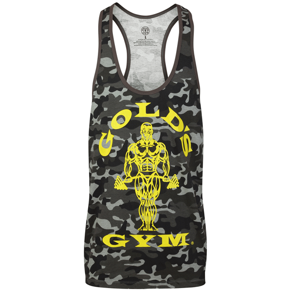 Billede af Golds Gym Muscle Joe Slogan Premium Tank Black Camo