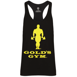 Gold's Gym Muscle Joe Slogan Premium Tank Black