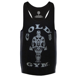 Gold's Gym Muscle Joe Tonal Panel Stringer Tank Black