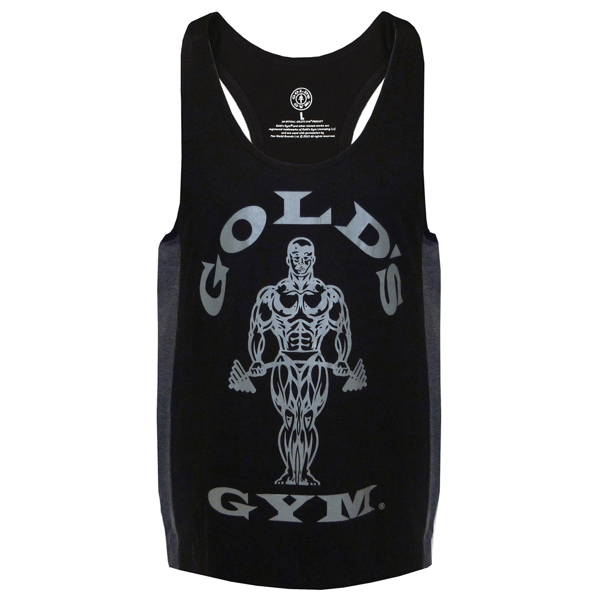 Billede af Gold's Gym Muscle Joe Tonal Panel Stringer Tank Black
