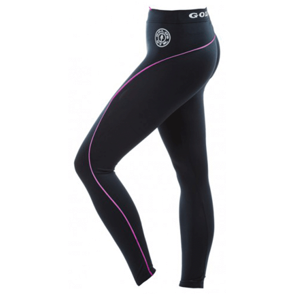 Image of   Golds Gym Ladies Long Tights Pants - Black/Pink