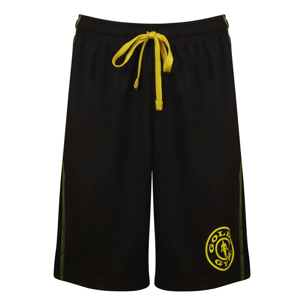 Golds Gym Logo Mesh Shorts Black