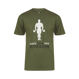 Golds Gym Premium Crew Neck T-Shirt - Army