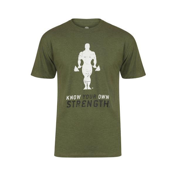 Billede af Golds Gym Premium Crew Neck T-Shirt - Army