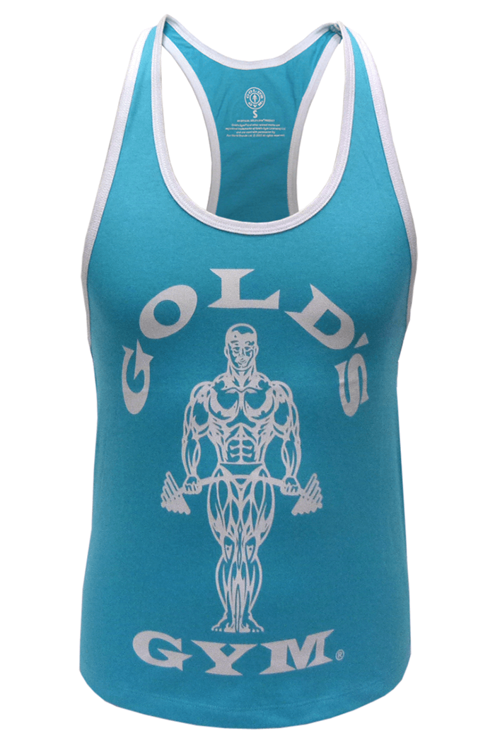 Golds Gym Ladies Loose Fit Muscle Tank - Turquoise