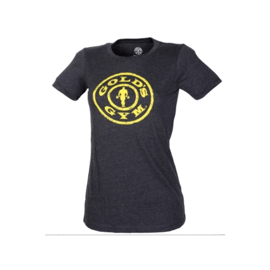 Gold's Gym Ladies Stronger Than Yesterday T-shirt Carbon Heather