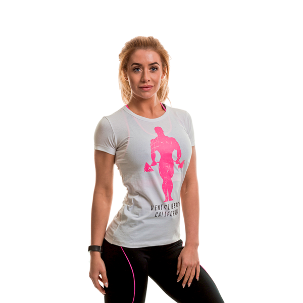 Gold's Gym Fitted T-shirt White/Pink thumbnail