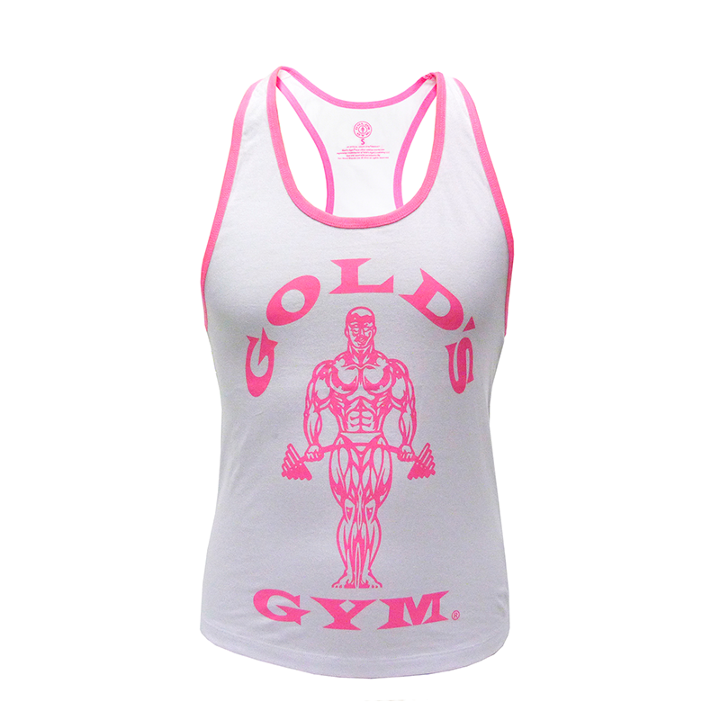 Gold\'s Gym Ladies Loose Fit Muscle Tank White