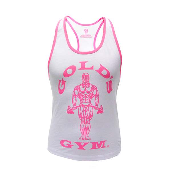 Image of Golds Gym Ladies Loose Fit Muscle Tank White