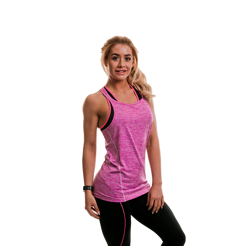Gold\'s Gym Ladies Top Lilac Marl
