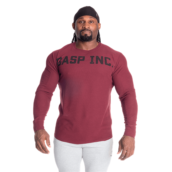 GASP INC. Thermal Long Sleeve Maroon