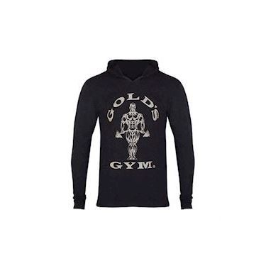 Gold's Gym Long Sleeve Hood Black Marl