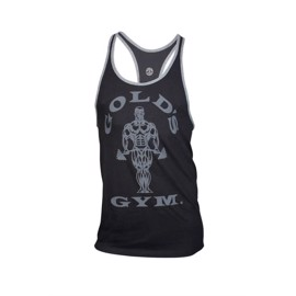 Golds Gym Muscle Joe Contrast Stringer Black/Grey