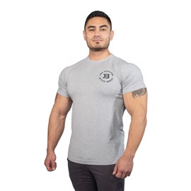 Better Bodies Gym Tapered Tee Grey Melange