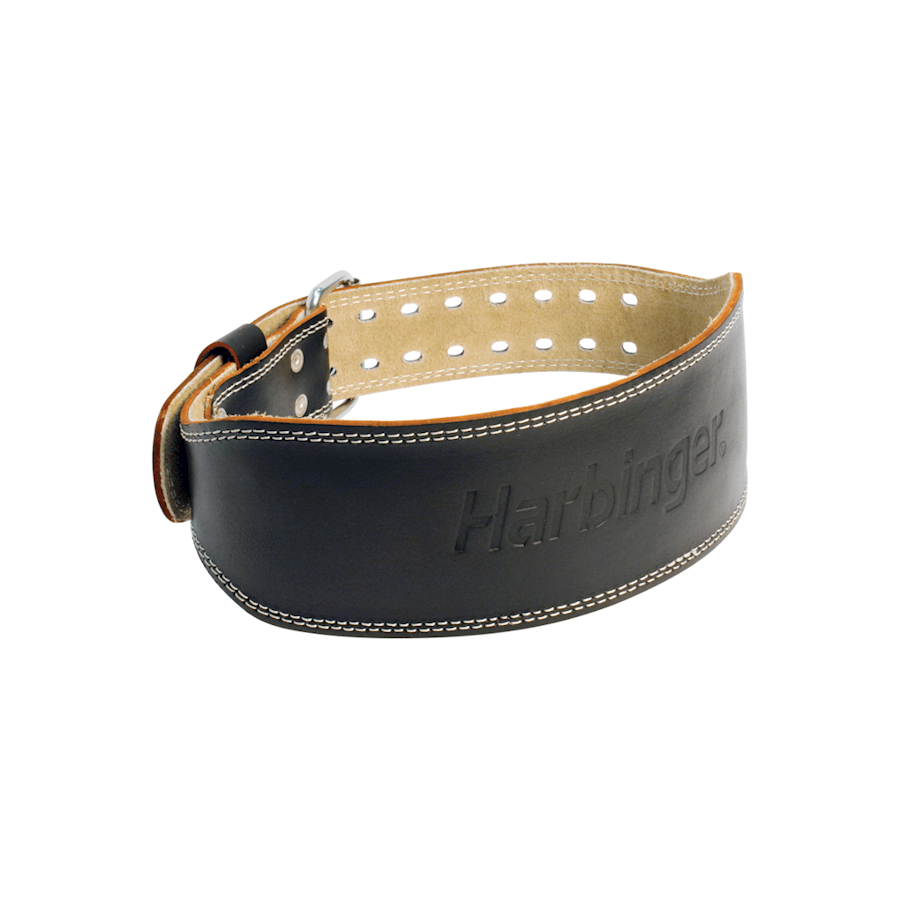 "Image of Harbinger 4"" Padded Leather Belt Black"