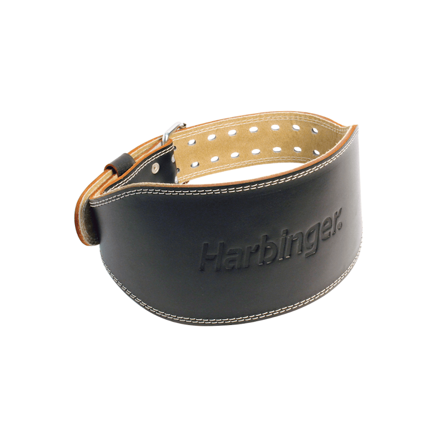 "Image of Harbinger 6"" Padded Leather Belt Black"