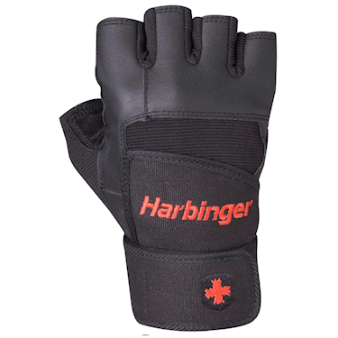 Harbinger Pro Wrist Wrap Gloves Black