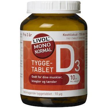 Livol Mono Normal Vitamin D Tyggetablet 150stk