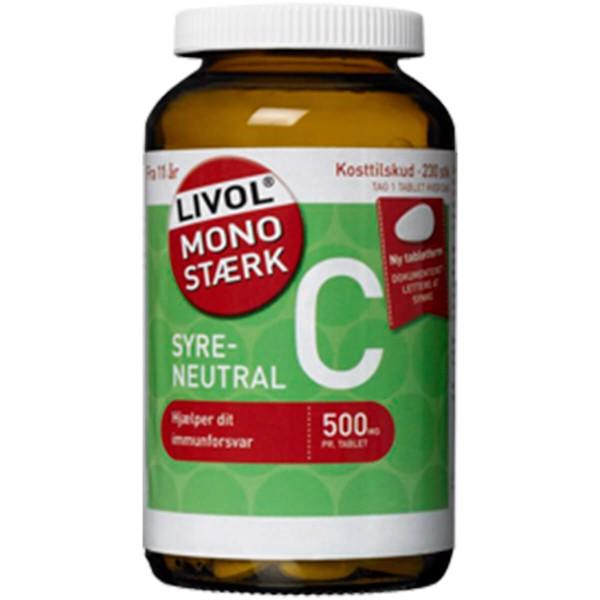Image of   Livol Mono Stærk Vitamin C 230 stk