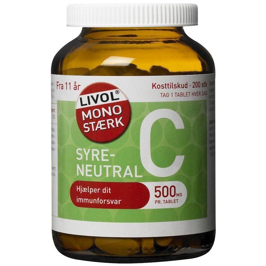 Billede af Livol StÌ_rk Vitamin C 200stk