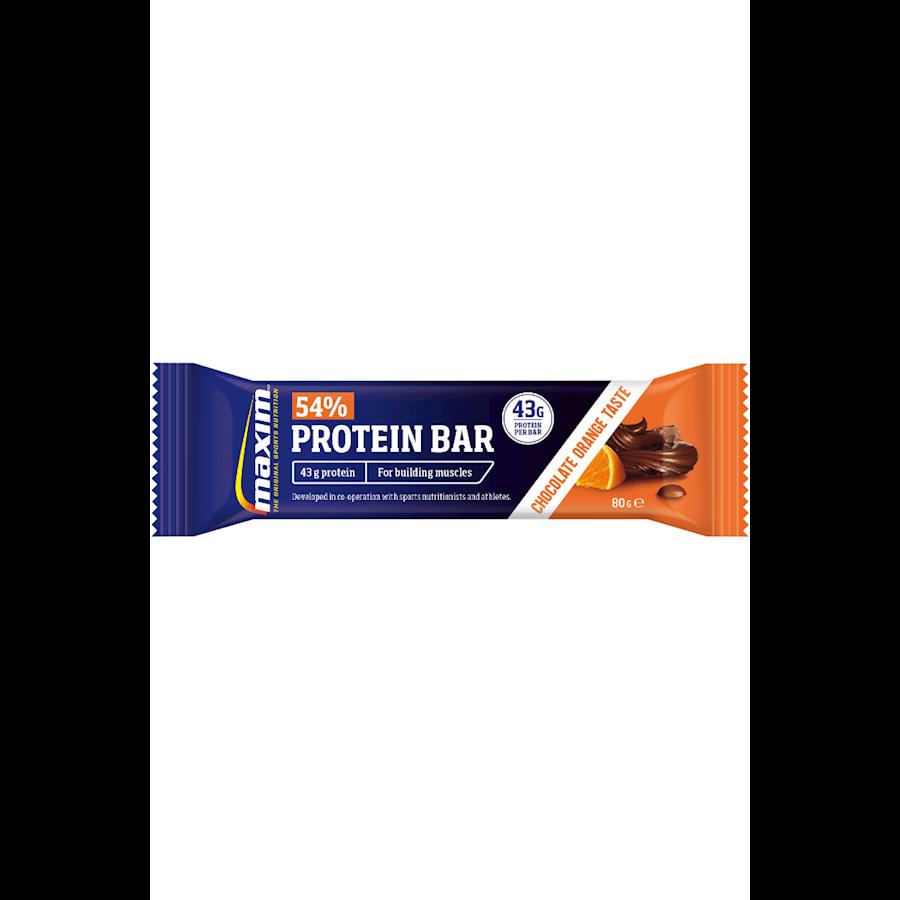 Billede af Maxim 54% Proteinbar Chocolate/Orange 20x80g
