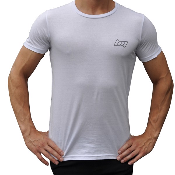 Image of BM Mens Fitted Tee White