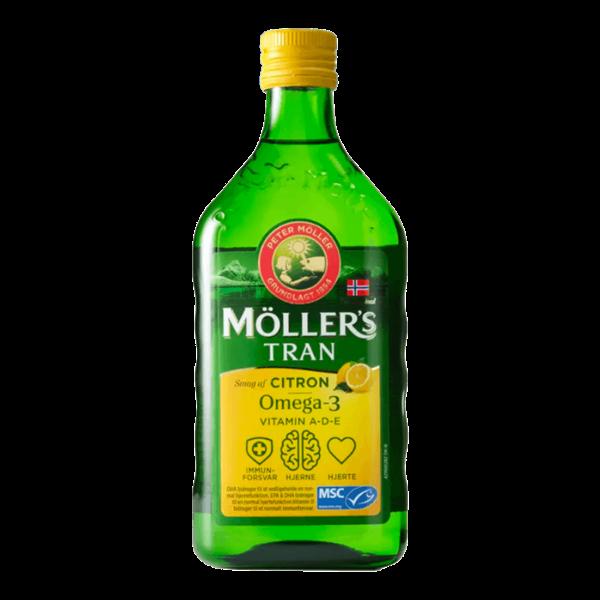 Køb Möllers Tran Fiskeolie m. Citron, 500ml