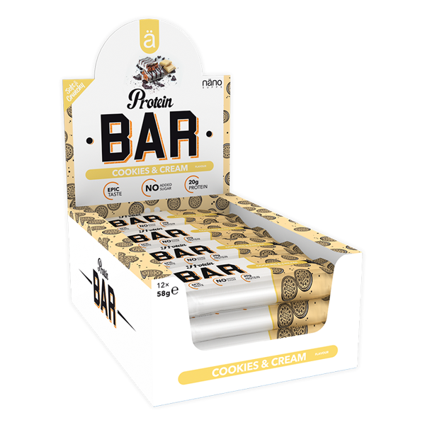 Image of Näno Supps Protein Bar Cookies & Cream 12x58g