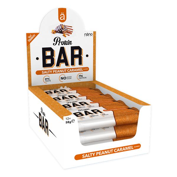Image of Näno Supps Protein Bar Salty Peanut Caramel 12x58g