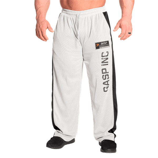 GASP No1 Mesh Pant White/Grey