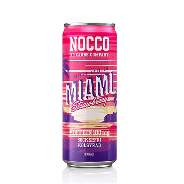 Image of Nocco BCAA Miami Strawberry Limited Edition - 24 stk