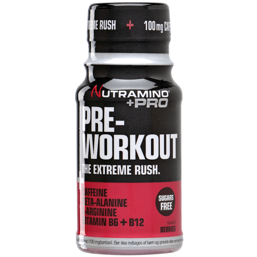 Image of Nutramino +Pro Pre Workout Shot Berries 12x60ml