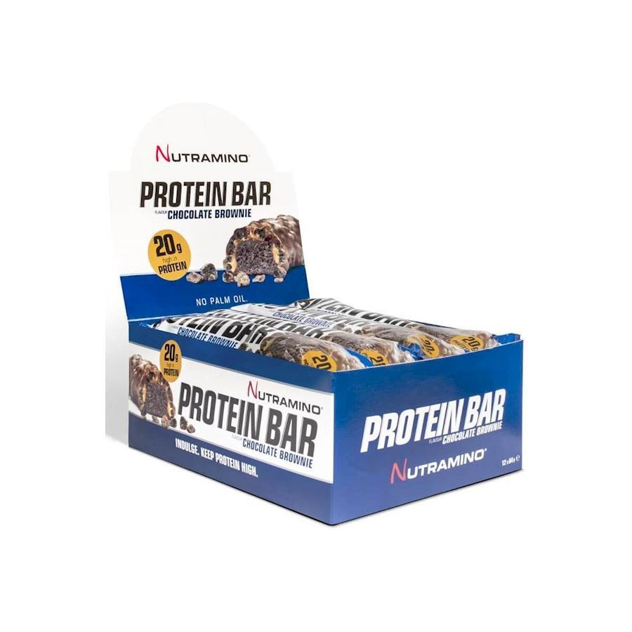 Image of   Nutramino Proteinbar Crispy Chocolate Brownie 64g - 12 stk