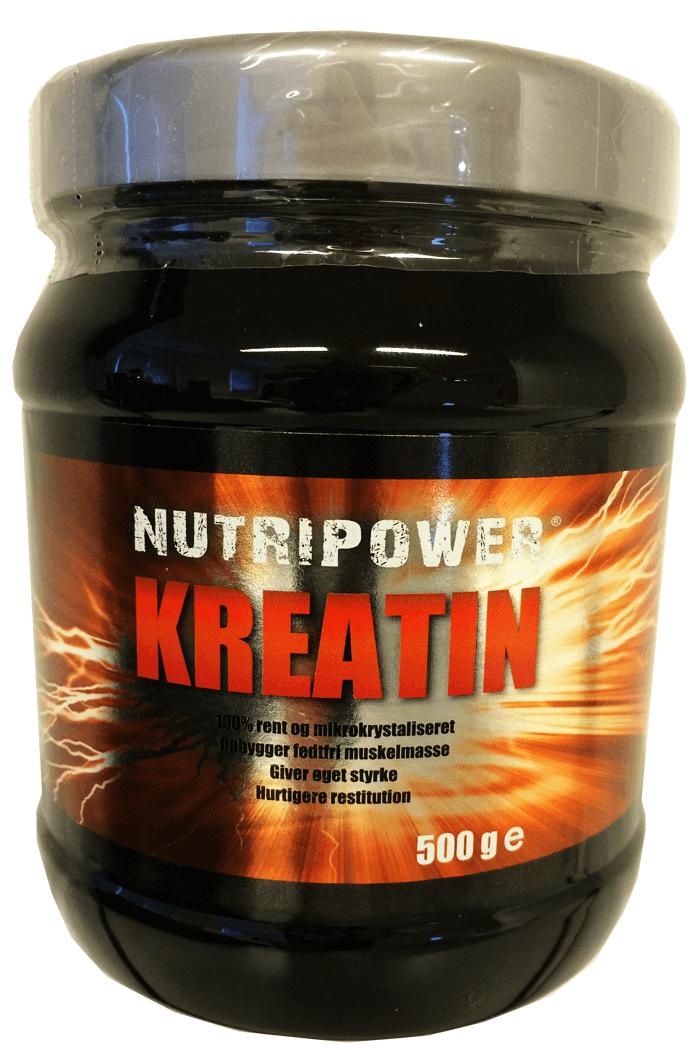 Køb NUTRIPOWER KREATIN 500 GRAM