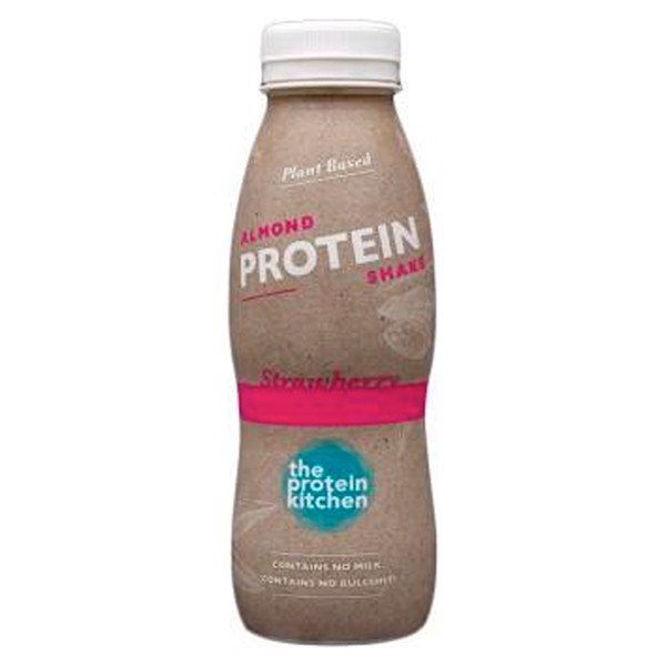 Køb STOP MADSPILD! The Protein Kitchen Protein Shake Strawberry/Almond 1x330ml