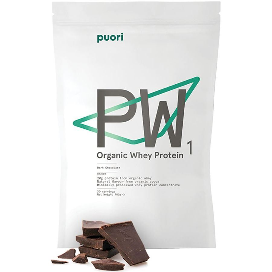 Image of   Puori PW1 Organic Whey Protein Dark Chocolate 900g