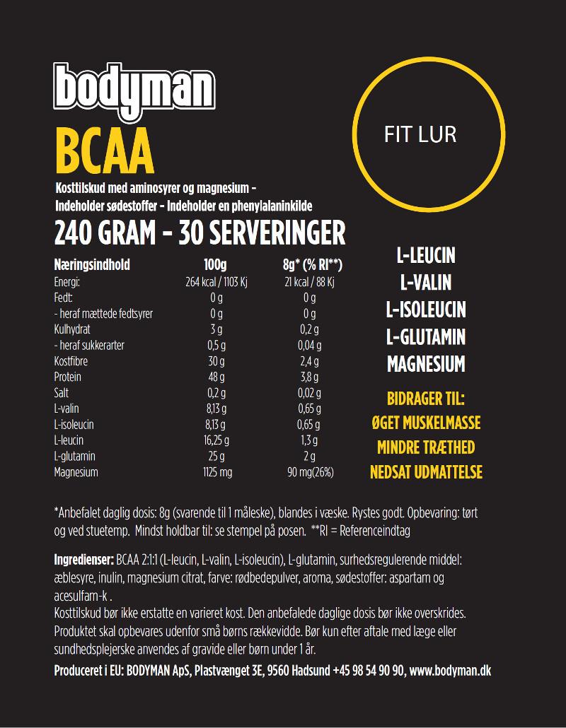 Bodyman BCAA Fit lur 240 Gram